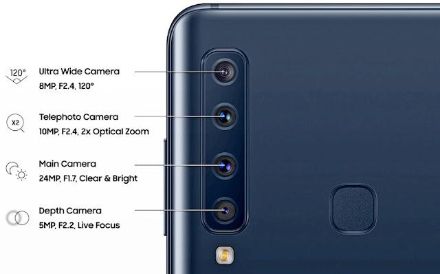 samsung galaxy A9,four camera