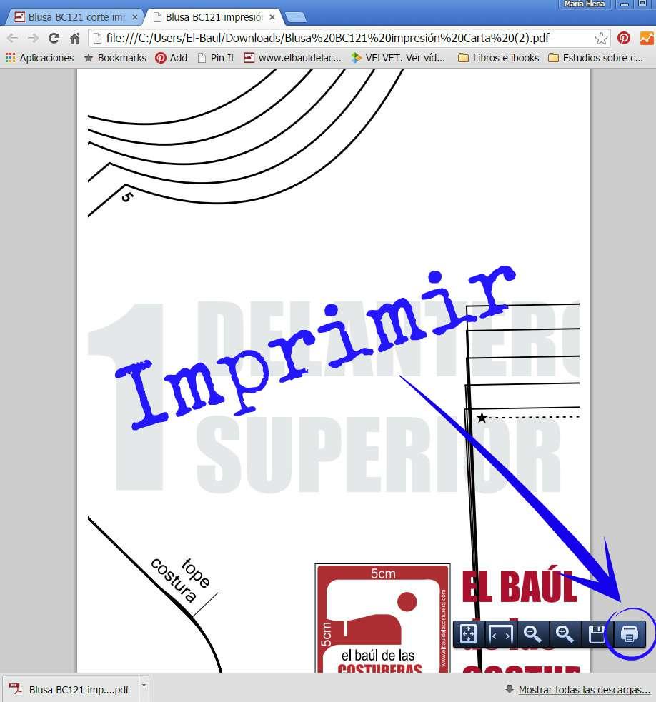 Cómo descargar, imprimir y guardar los patrones de costura