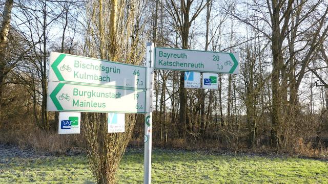 Mainzusammenfluss - Fahrradwege