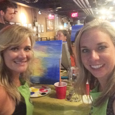 girls at paint night