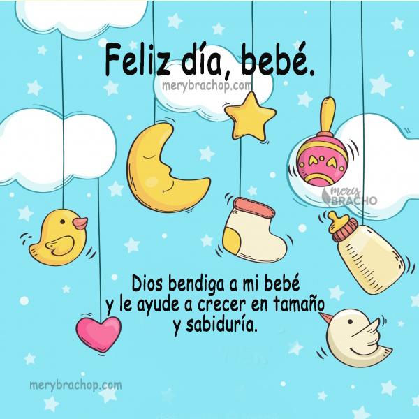 imagen tarjeta para bebe feliz dia nene nena