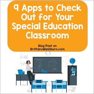 I am always on the lookout for tech tools to make teacher's lives easier. Here some apps that would be especially beneficial in special education classrooms.
