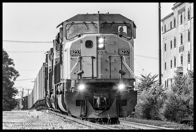 UP 8237 on the TRRA Merchants Subdivision, along First Street in St. Louis, MO.