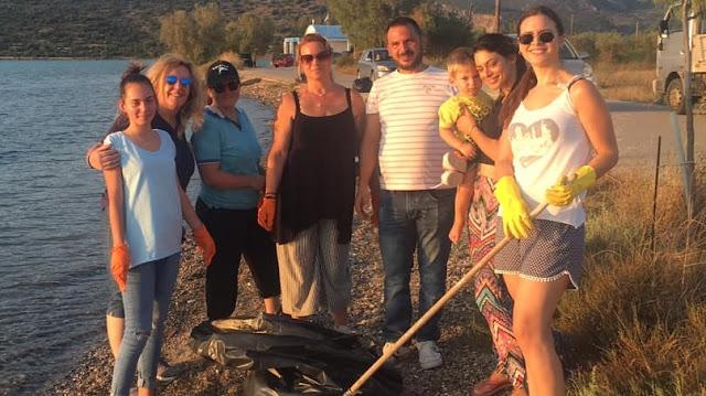 """Ο Πολιτιστικό Σύλλογος """"Φράγχθι"""" καθάρισε την παραλία Αγ. Δημητρίου στην Κοιλάδα Αργολίδας"""