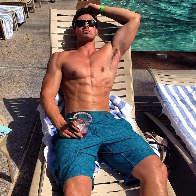 masculine-shirtless-alpha-male-bro-abs-sun-tanning-pool