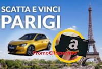 Logo Concorso ''Scatta e Vinci #Peugeot '' : buono Amazon da 100 euro e viaggio a Parigi