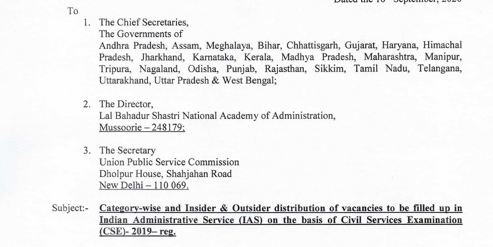 UPSC CSE 2019 IAS Officers Allocation