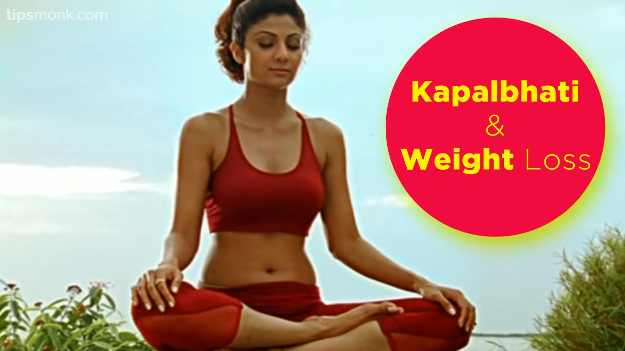 Kapalbhati Benefits for weight loss - Shilpa Shetty yoga image - Tipsmonk