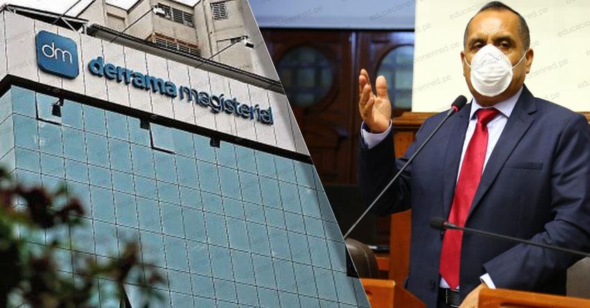 CONGRESO DE LA REPÚBLICA: Es necesario una reforma en la Derrama Magisterial, sostiene el Parlamentario Grimaldo Vásquez, de la bancada Somos Perú
