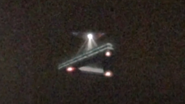 Triangle UFO shaped like a real Alien vehicle but is it really a man made craft.
