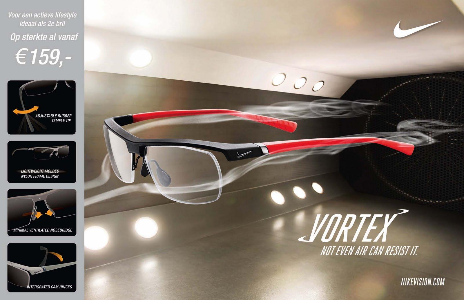 De actieve bril van Nike is in acht verschillende modellen beschikbaar en  vanaf €159,- inclusief glazen op sterkte verkrijgbaar. 916fa22285b4