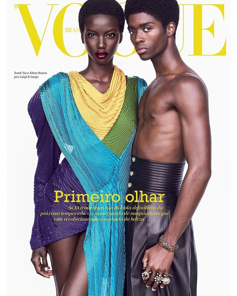 Anok Yai & Alton Mason for Vogue Brazil August 2019