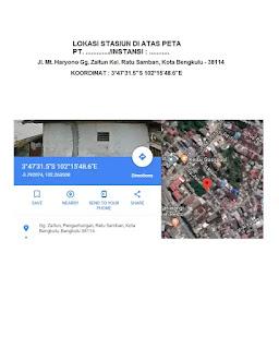 Contoh Gambar Lokasi Stasiun di atas Peta