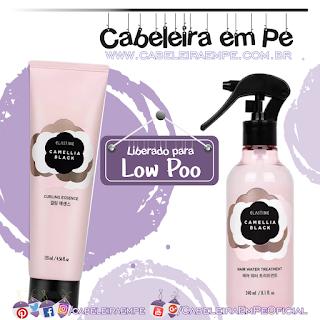 Spray Revitalizador e Creme Finalizador de Cachos Camelia Black - Elastine (Low Poo)