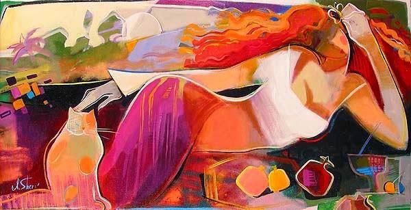 De Vermelho no Verão - Irene Sheri e suas românticas pinturas