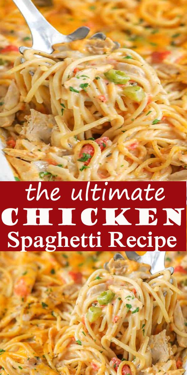 the ultimate Chicken Spaghetti Recipe #theultimate #Chicken #Spaghetti #Recipe #theultimateChickenSpaghettiRecipe #dinner