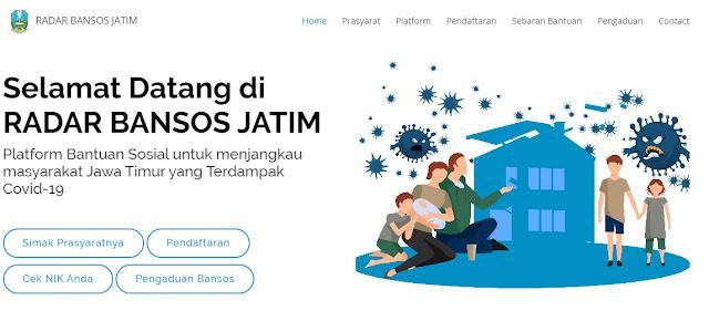 Cara Mendaftar Bansos ( Bantuan Sosial ) Khusus Jawa Timur  Pasca CoVid Untuk Yang Belum Menerima Bantuan PKH, BPNT, dan BLT