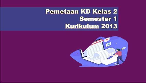 Pemetaan KD Kelas 2 Semester 1 Kurikulum 2013 Revisi 2018 & 2017