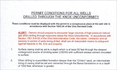 cautions to fracking waste injection well drillers in Ohio