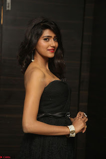 Shalu Chourasiya in spicy Sleeveless Strapless Black Top at O Pilla Nee Valla Movie Audio Launch Feb 2017 054.JPG