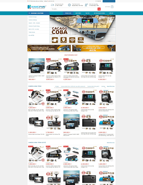 Theme wordpress bán camera - thiết bị kĩ thuật số