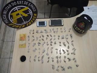 POLICIA MILITAR PRENDE TRÊS HOMENS POR TRÁFICO DE DROGAS EM REGISTRO-SP
