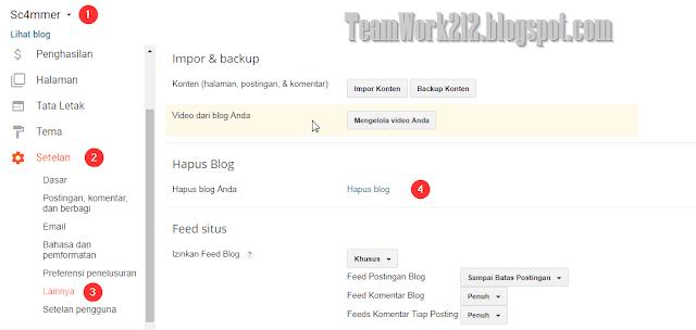 Menghapus blog
