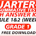 1st Summative Test GRADE 1 Q3