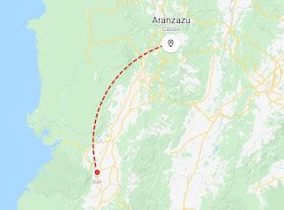 mapa cali aranzazu