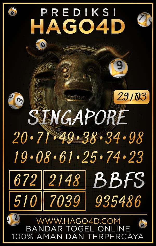 Prediksi Hago4D - Senin, 29 Maret 2021 - Prediksi Togel Singapore