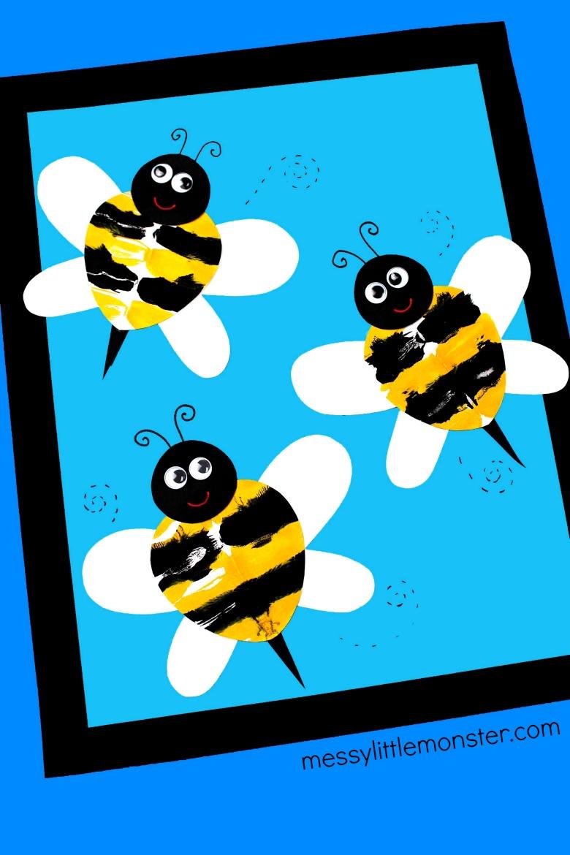 bee craft symmetry art for kids