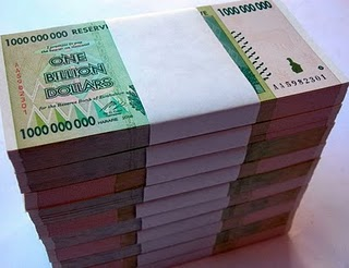Zimbabwe S New Banknotes Worth 10 000 Zwd Or Billion Dollars On A Single Sheet