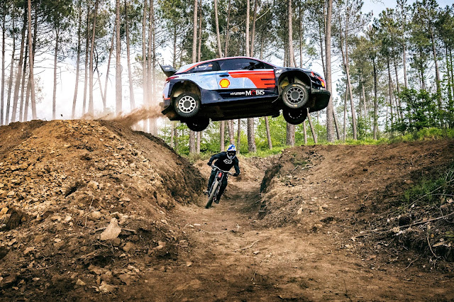 WRCar Jump Over Mountain Bike