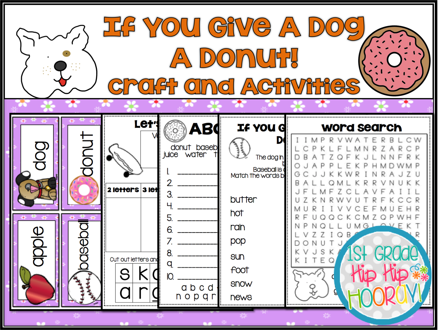 1st Grade Hip Hip Hooray If You Give A Dog A Donut