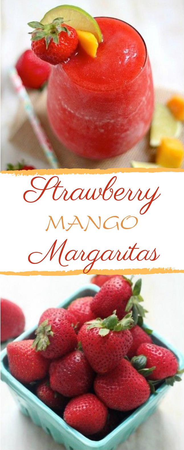 Strawberry Mango Margaritas #summerdrink #margarita