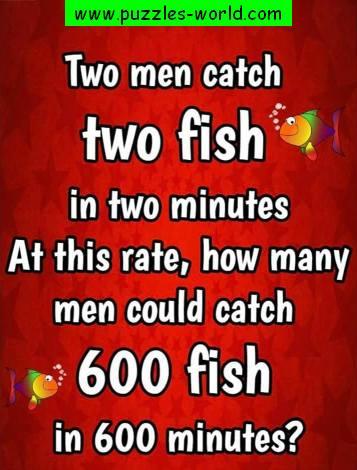 2 men 2 fish 2 minutes puzzle