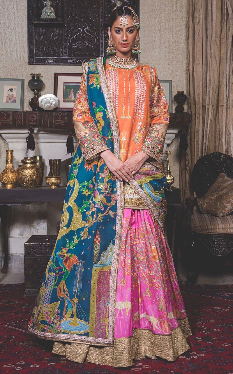 Fahad Hussayn Gharara Suit for Bride Sisters