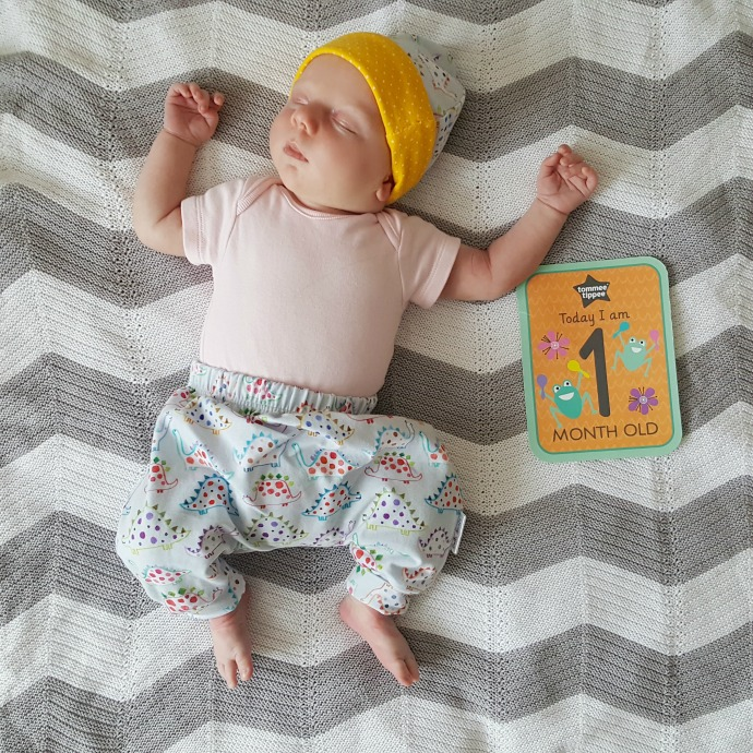 the adventure of parenthood 1 month baby girl