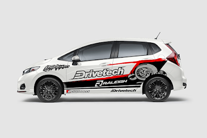 DESAIN Decal Sticker Honda Jazz RS Drivetech Turbo Desain - Graphiz Sticker