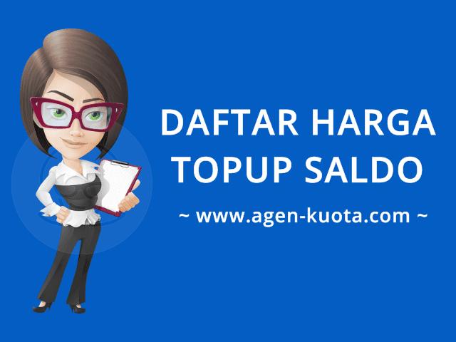 Cara Top Up Isi Saldo Uang Elektronik Murah Agen-Kuota.com