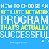 How To Choose An Affiliate Network Program
