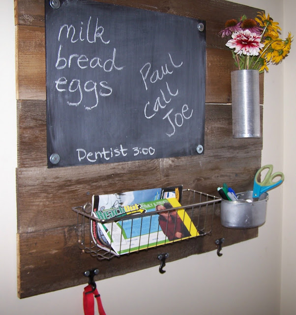 repurposed, junk, message board, http://bec4-beyondthepicketfence.blogspot.com/2016/03/repurposing-little-junk.html
