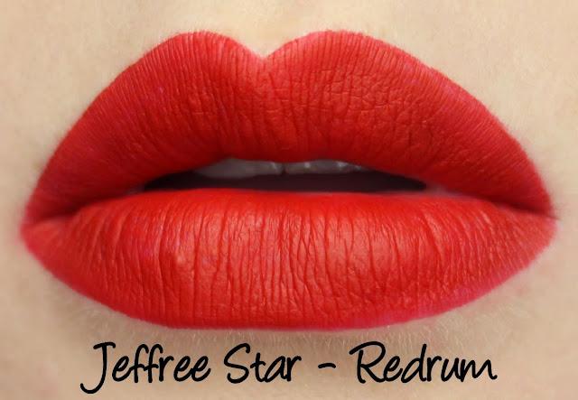 Jeffree Star Velour Liquid Lipstick - Redrum Swatches & Review