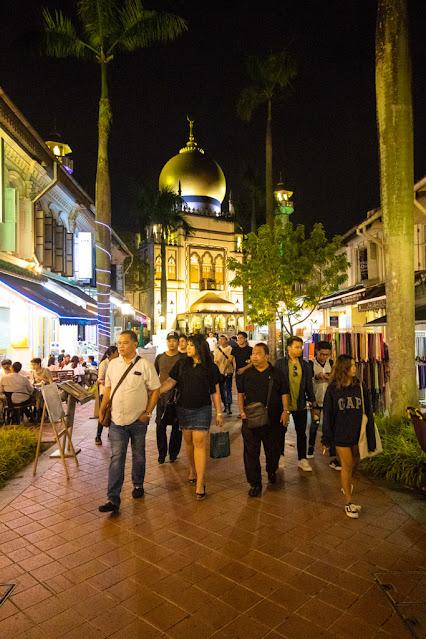 Moschea Masjid Sultan e Bussorah street-Quartiere arabo-Singapore