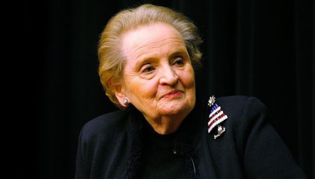 Statue of Madeleine Albright in Pristina for her endless efforts in favor of Kosovo liberation