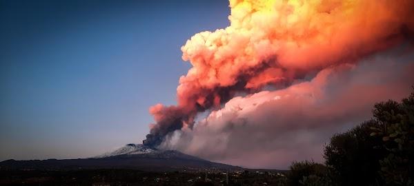 Erupción volcán Etna, febrero 2021