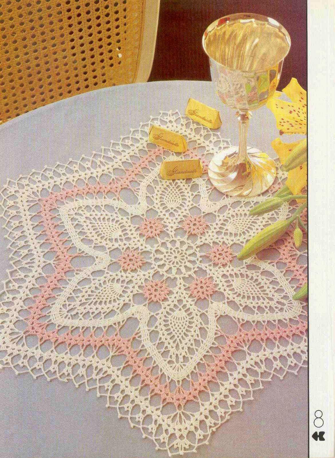 Carpeta con forma de estrella al crochet