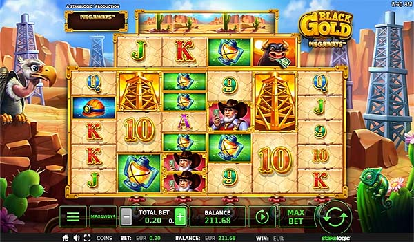 Main Gratis Slot Indonesia - Black Gold Megaways (Stakelogic)