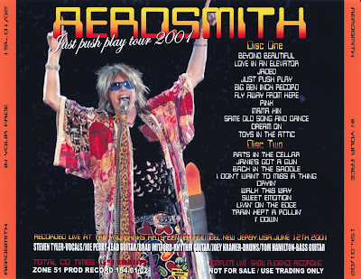 Aerosmith Bootlegs Cover Arts In Your Face Holmdel 2001