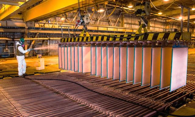 La producción peruana de cobre, plomo, hierro, estaño y molibdeno registró un incremento durante el 2019